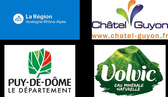 La Région Auvergne-Rhône-Alpes, Le département du Puy-de-Dôme, la ville de Châtelguyon, la société Volvic